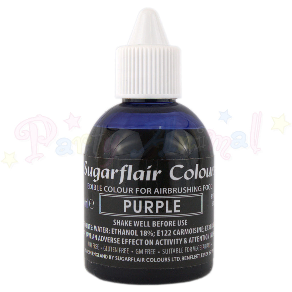 Sugarflair Airbrush Colours for Cake Decoration - Purple