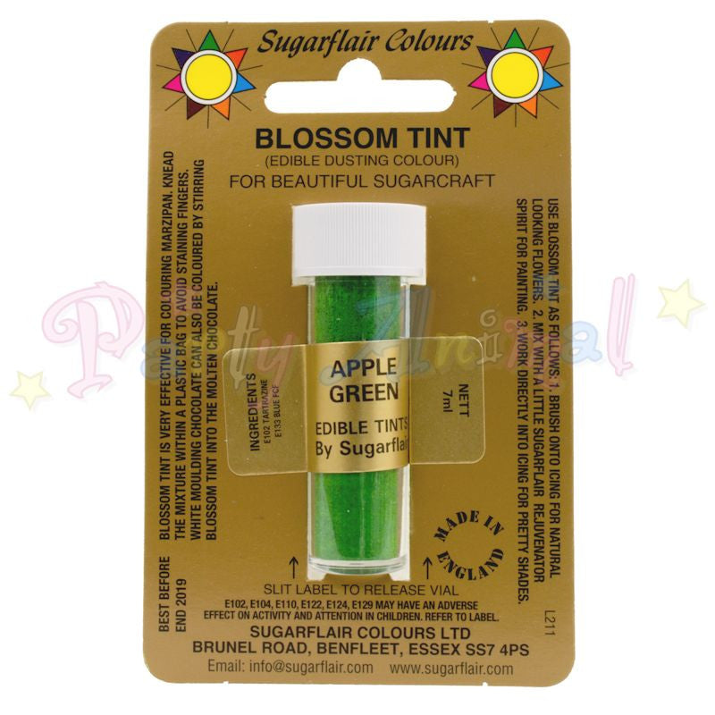 Sugarflair Colours APPLE GREEN Blossom Tint Dusting Powder