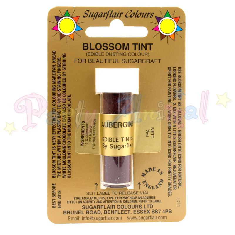 Sugarflair Colours AUBERGINE Blossom Tint Dusting Powder