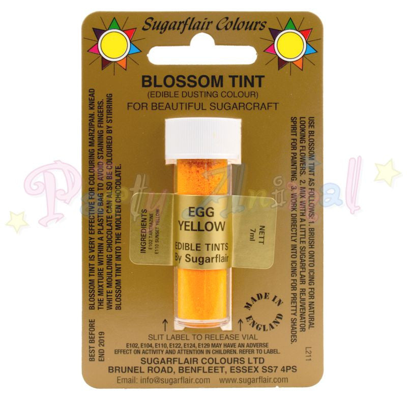 Sugarflair Colours EGG YELLOW Blossom Tint Dusting Powder