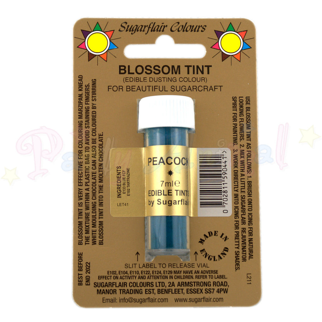 Sugarflair Colours PEACOCK Blossom Tint Dusting Powder