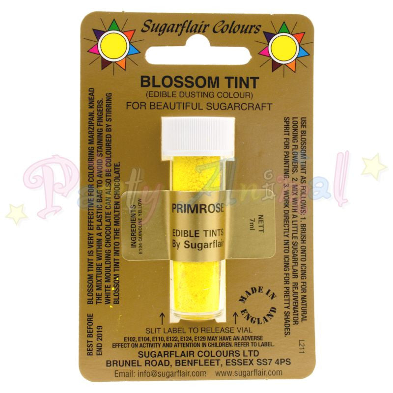Sugarflair Colours PRIMROSE YELLOW Blossom Tint Dusting Powder
