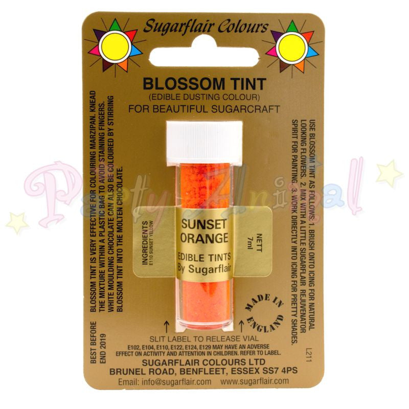 Sugarflair Colours SUNSET ORANGE Blossom Tint Dusting Powder