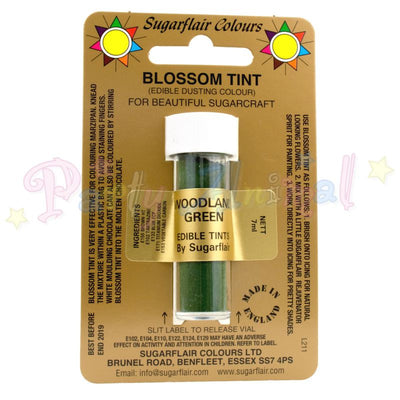 Sugarflair Colours WOODLAND GREEN Blossom Tint Dusting Powder