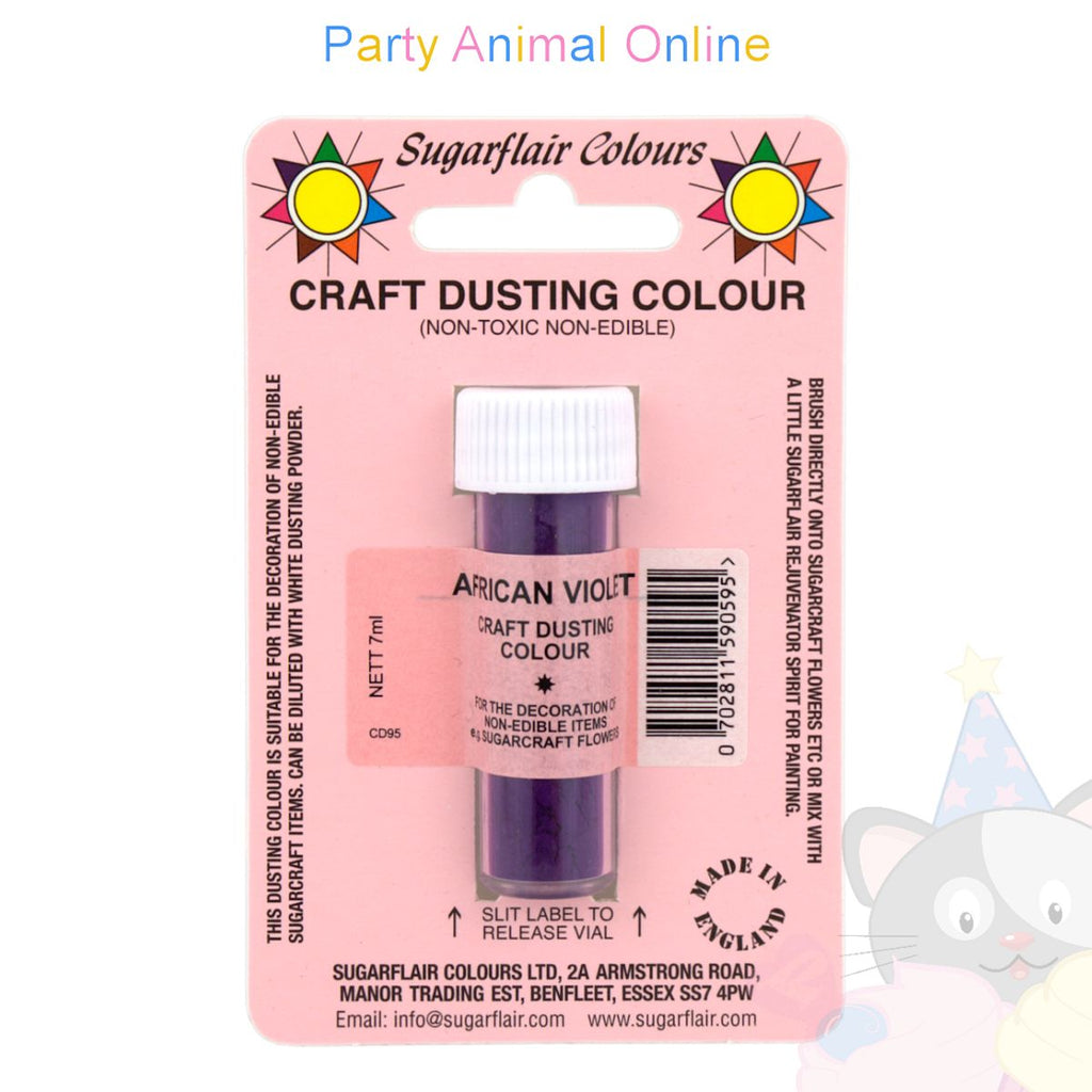 Sugarflair Colours Dusting Colour CRAFT RANGE - African Violet