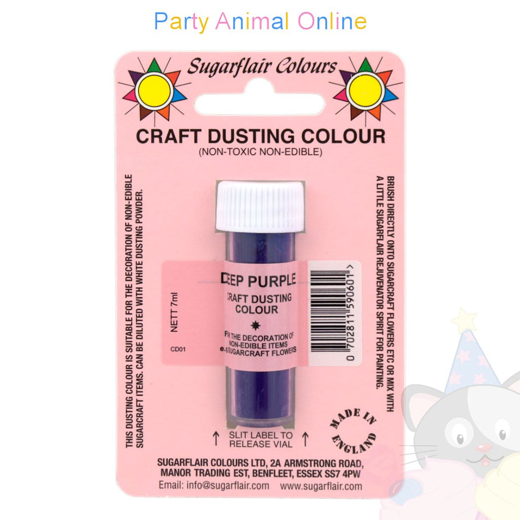 Sugarflair Colours Dusting Colour CRAFT RANGE - Deep Purple