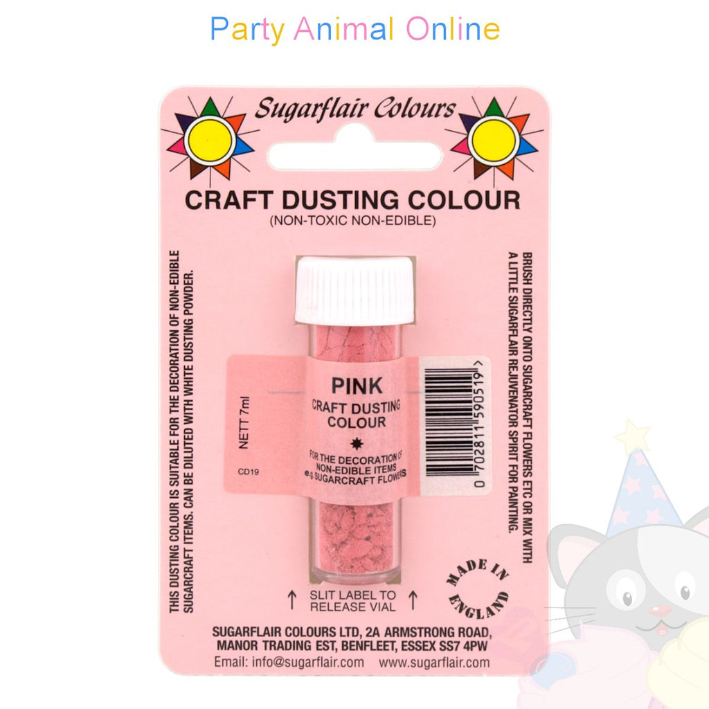 Sugarflair Colours Dusting Colour CRAFT RANGE - Pink