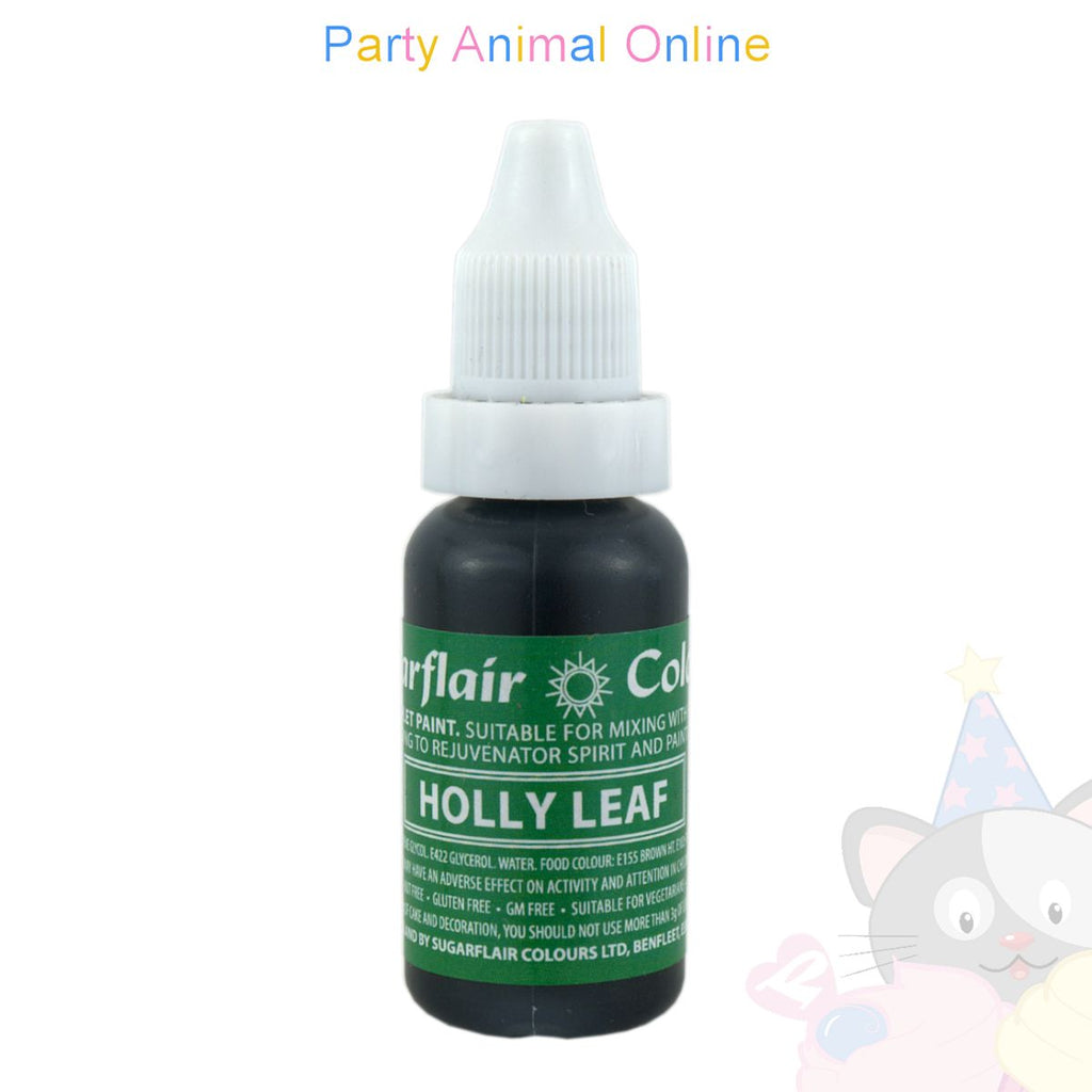 Sugarflair Sugartint Liquid Food Colour Droplets - Holly Leaf
