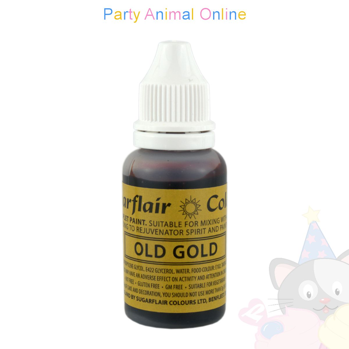 Sugarflair Sugartint Liquid Food Colour Droplets - Old Gold
