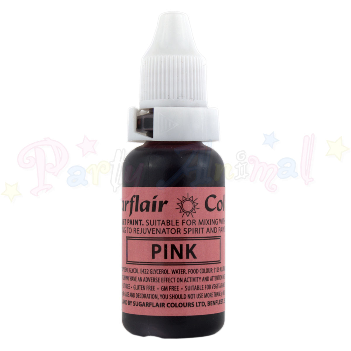 Sugarflair Sugartint Liquid Food Colour Droplets - Hollyberry / Pink