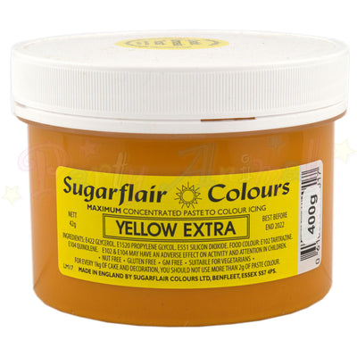 Sugarflair Extra Concentrated Paste - YELLOW - BULK 400g Pot
