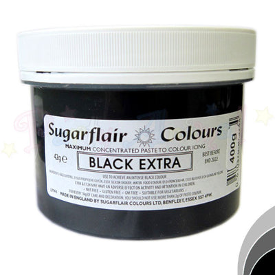 Sugarflair Extra Concentrated Paste - BLACK EXTRA - BULK 400g Pot