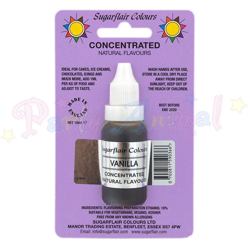 Sugarflair VANILLA Concentrated Food Flavouring