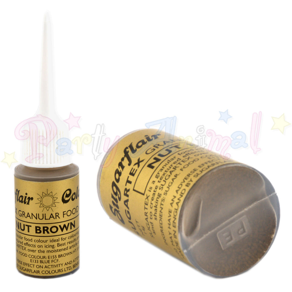 Sugarflair Sugartex Edible Pollen NUT BROWN Granular Food Colour