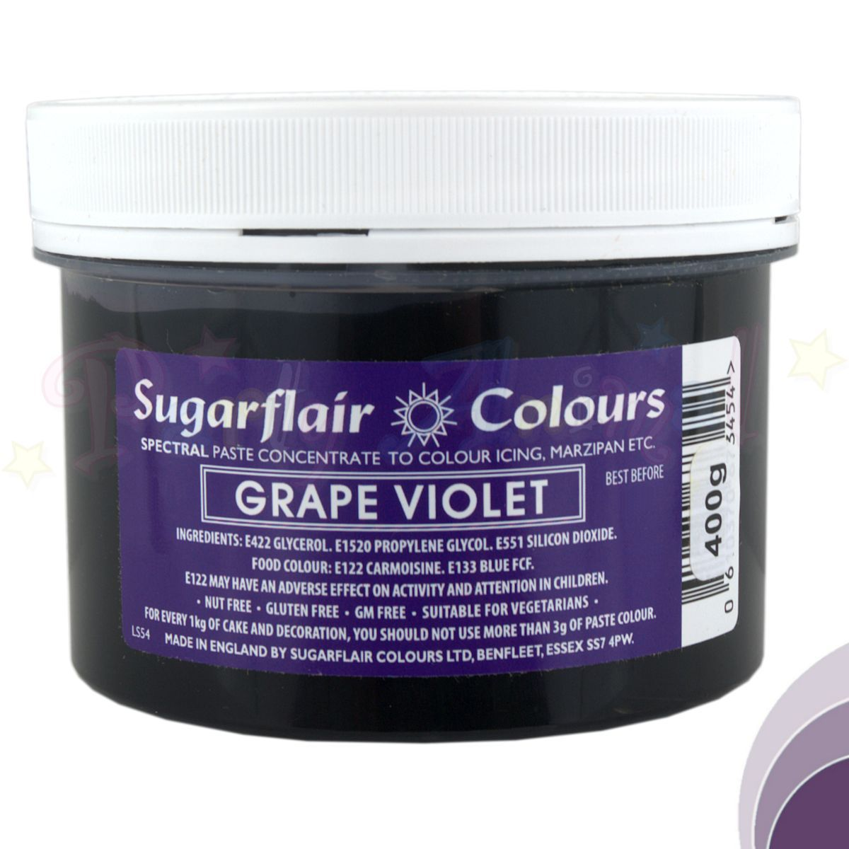 Sugarflair Spectral Paste GRAPE VIOLET Food Colour - BULK 400g