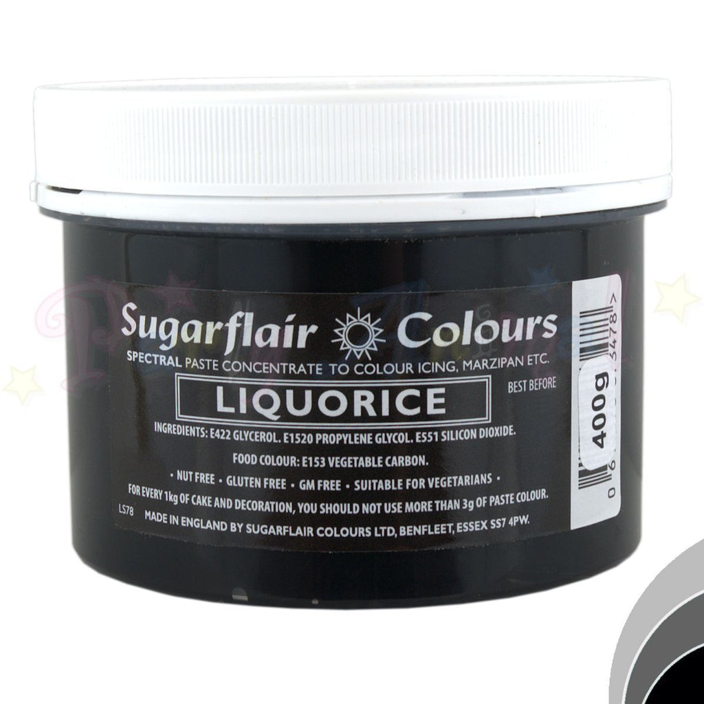 Sugarflair Spectral Paste LIQUORICE BLACK Food Colour - BULK 400g
