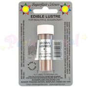 Sugarflair Edible Lustre Dusts BROWN SHIMMER Food Colour Powder