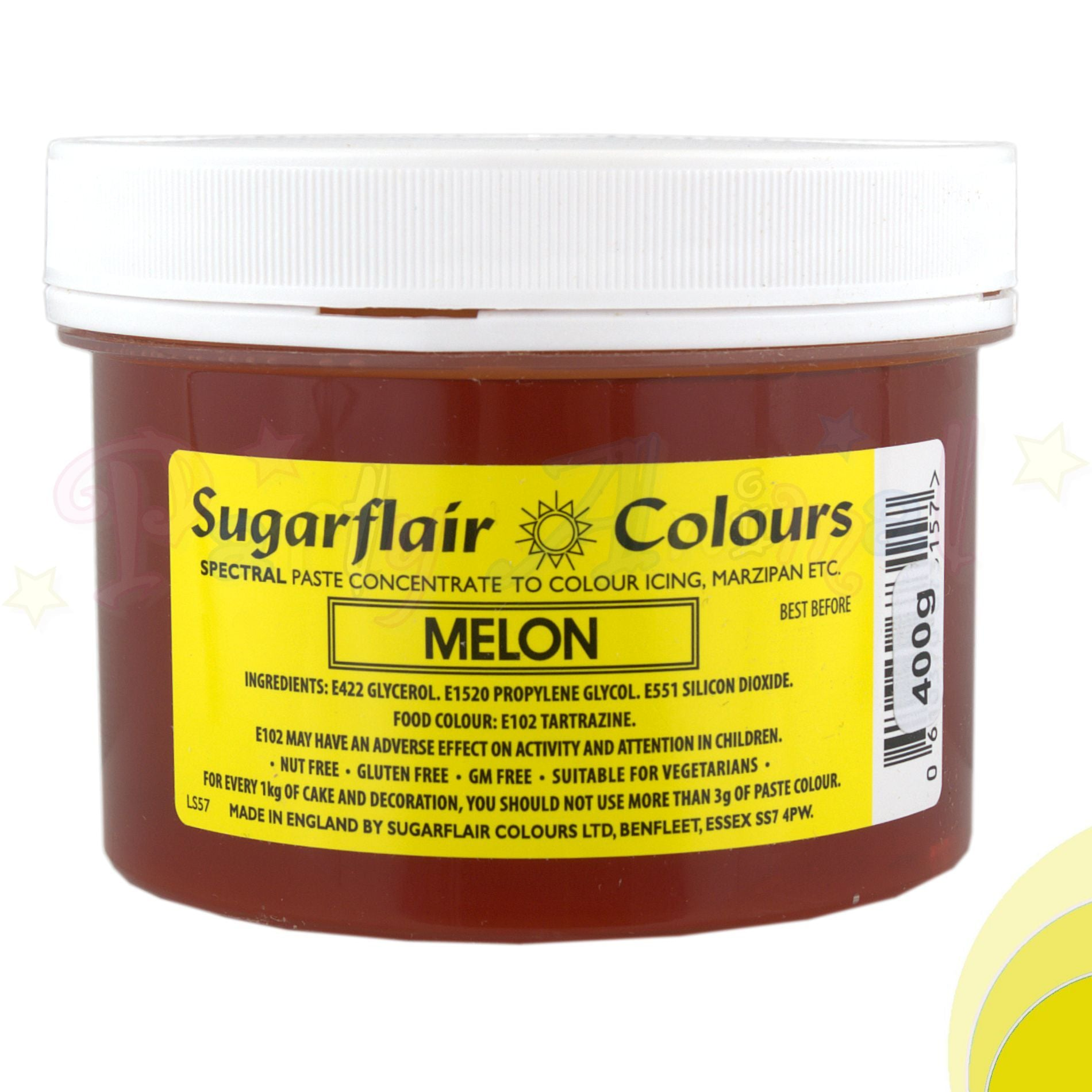 Sugarflair Spectral Paste MELON YELLOW Food Colour - BULK 400g