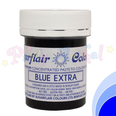 Sugarflair Extra Concentrated Paste - BLUE EXTRA - BULK 400g Pot