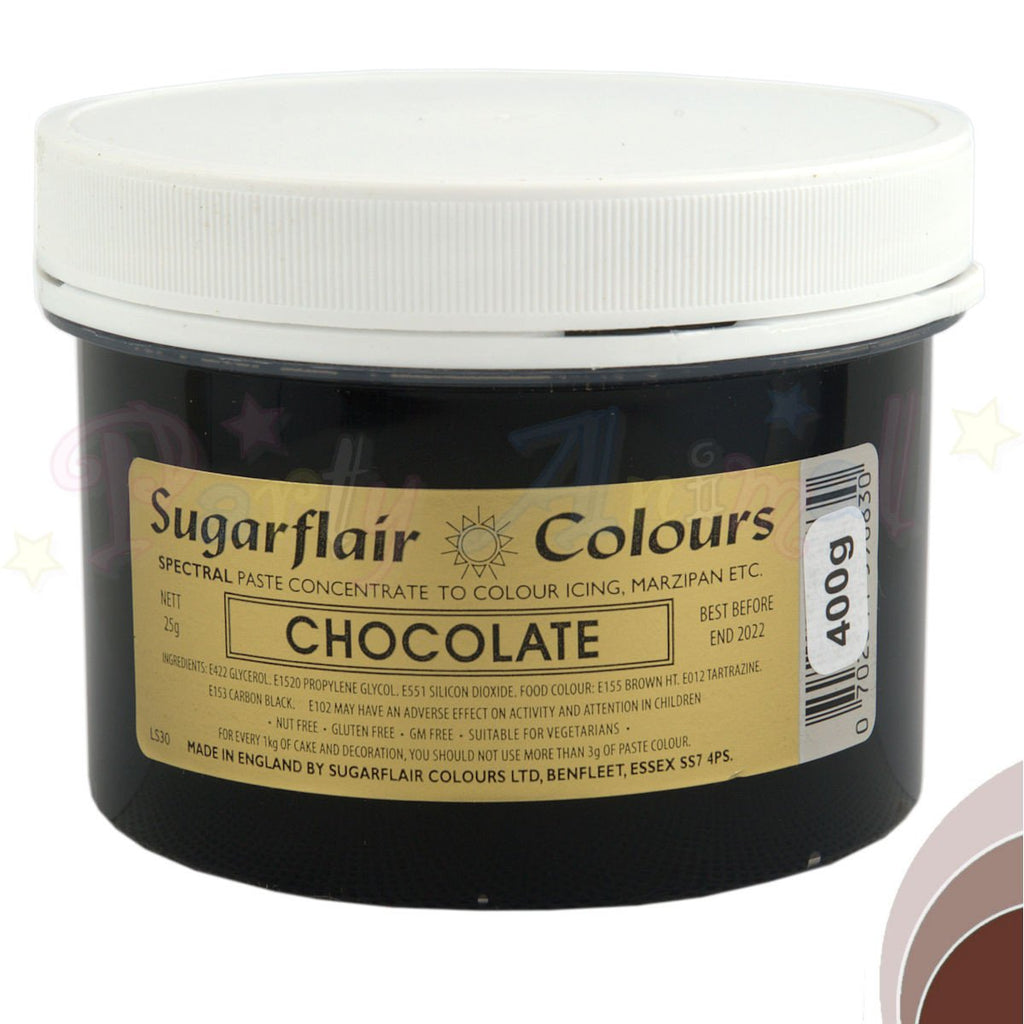 Sugarflair Spectral Paste CHOCOLATE Food Colour - BULK 400g