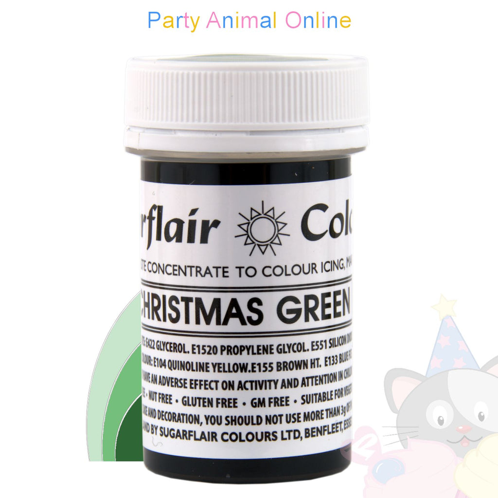 Sugarflair Tartranil Paste CHRISTMAS GREEN Food Colouring