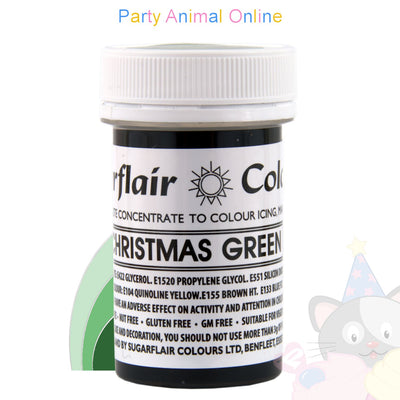 Sugarflair Paste CHRISTMAS GREEN Food Colouring
