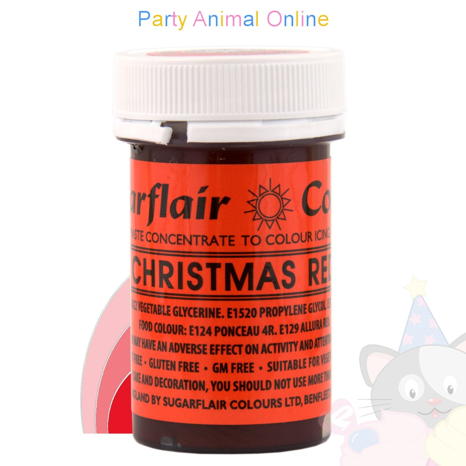 Sugarflair Spectral Paste CHRISTMAS RED Food Colour