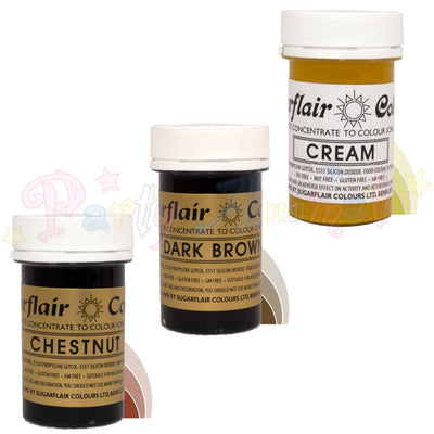 Sugarflair PASTE / GEL Food Colours - CREAM SET Set of 3