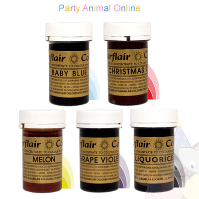 Sugarflair PASTE / GEL Food Colours - Set of 5 MOST POPULAR