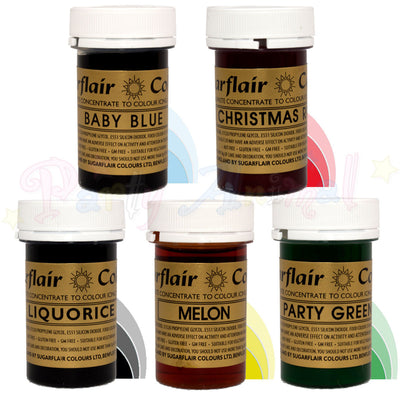 Sugarflair PASTE / GEL Food Colours - OLYMPICS Set of 5