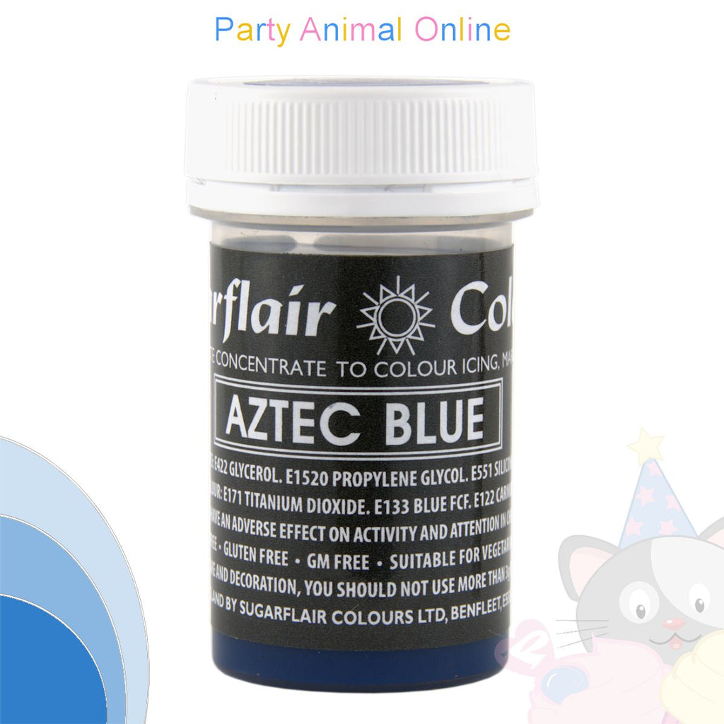 Sugarflair Pastel Paste Food Colour - PASTEL AZTEC BLUE
