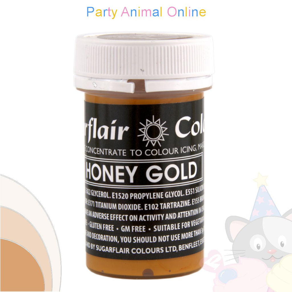 Sugarflair Pastel Paste Food Colour - PASTEL HONEY GOLD
