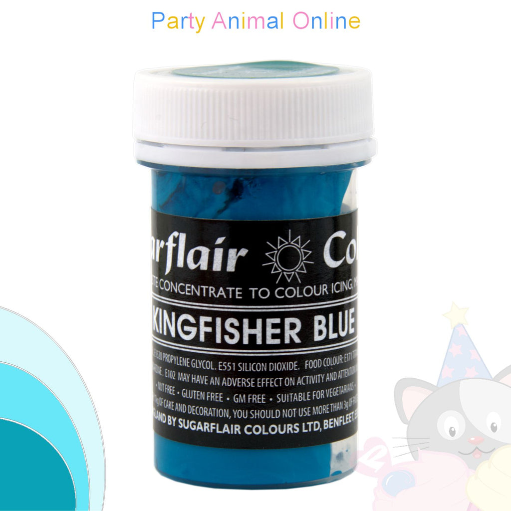 Sugarflair Pastel Paste Food Colour - KINGFISHER BLUE