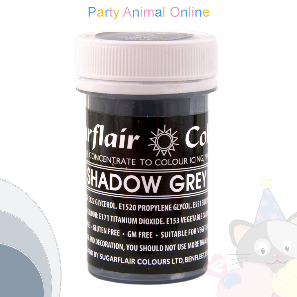 Sugarflair Pastel Paste Food Colour - PASTEL SHADOW GREY