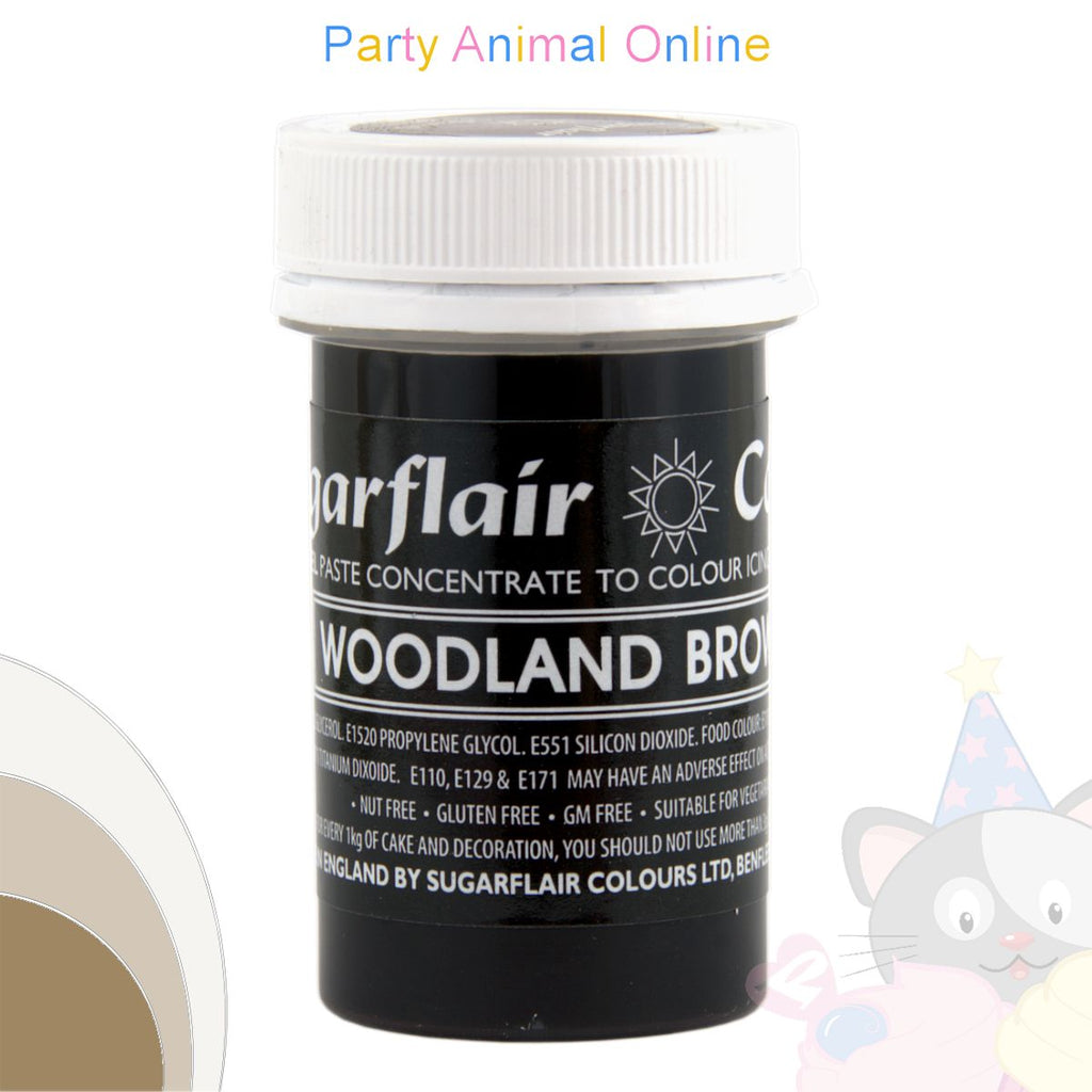 Sugarflair Pastel Paste Food Colour - PASTEL WOODLAND BROWN