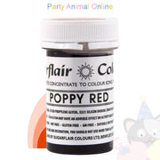 Sugarflair Paste POPPY RED Food Colouring