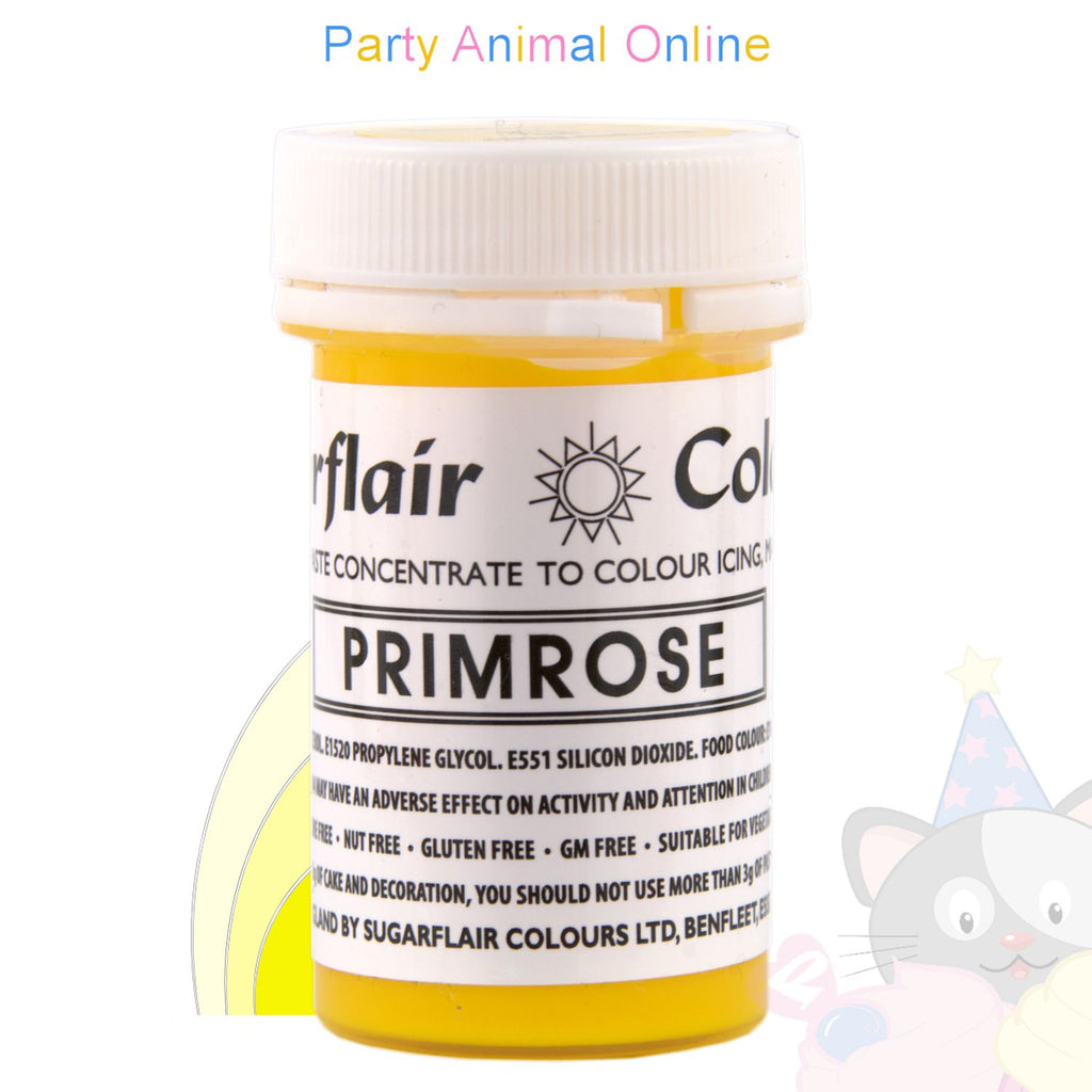 Sugarflair Paste PRIMROSE YELLOW Food Colouring