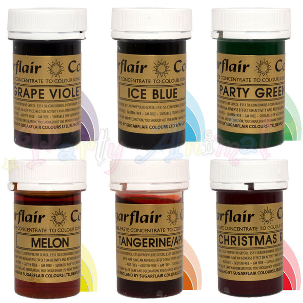 Sugarflair Paste Gel Food Colours Rainbow Set Of 6