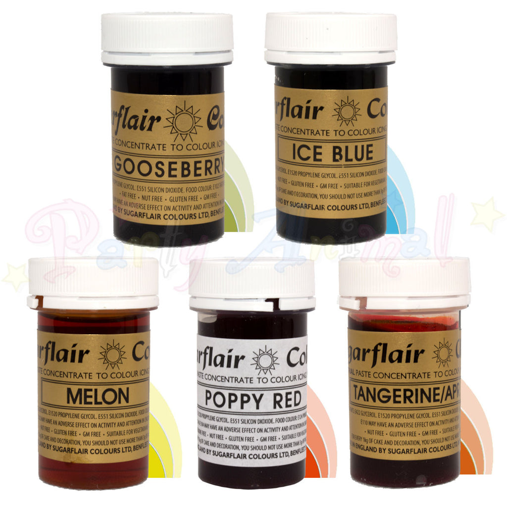 Sugarflair PASTE / GEL Food Colours - Set of 5 SPRING FLOWERS