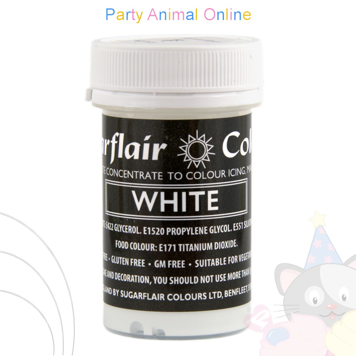 Sugarflair Pastel Paste Food Colour - PASTEL WHITE