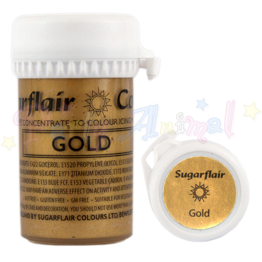 Sugarflair Satin Paste Food Colour - Gold