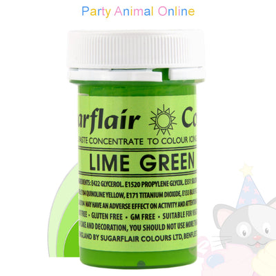 Sugarflair Spectral Paste LIME GREEN Food Colour