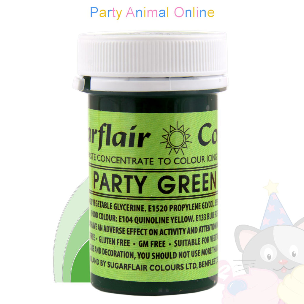 Sugarflair Spectral Paste PARTY GREEN Food Colour