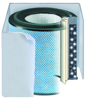 Austin Air Systems - Replacement Filter For BEDROOM MACHINE AIR PURIFIER with Black Pre-Filter