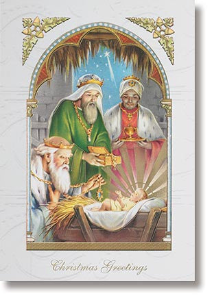 Christmas card, three wise men