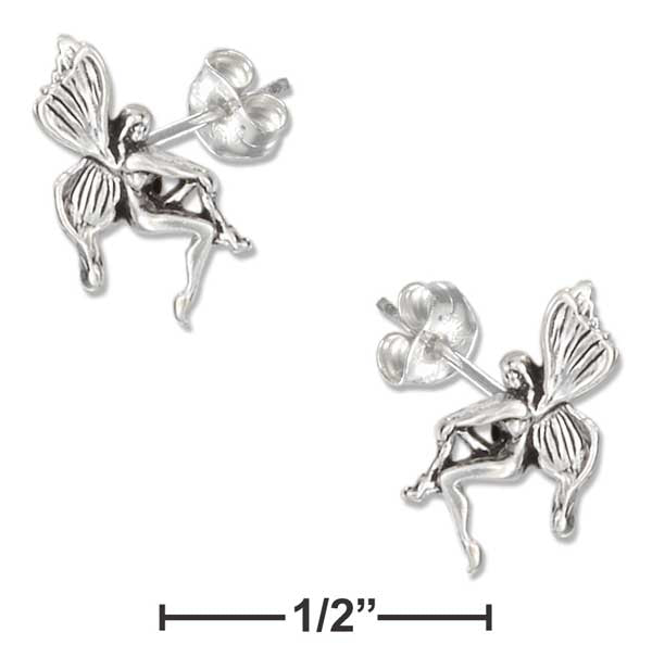 Sterling Silver Mini Fairy Earrings