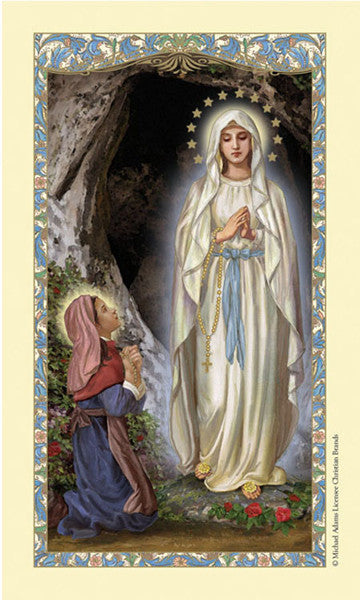 Saint Bernadette laminated holy card (25 card set)