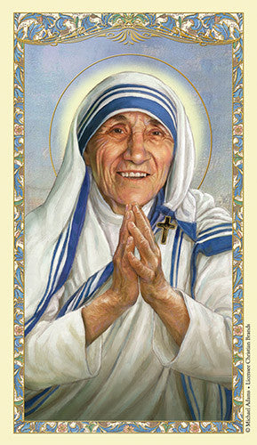 Saint Teresa laminated holy card (25 card set)