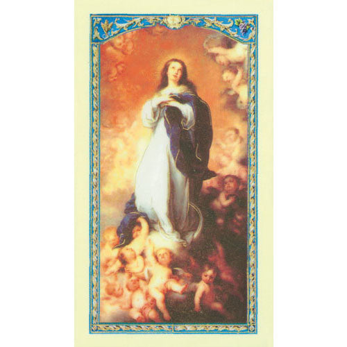 Our Lady of the Assumption laminated holy card (25 card set)