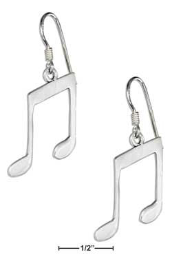 sterling silver musical notes earrings-french wires